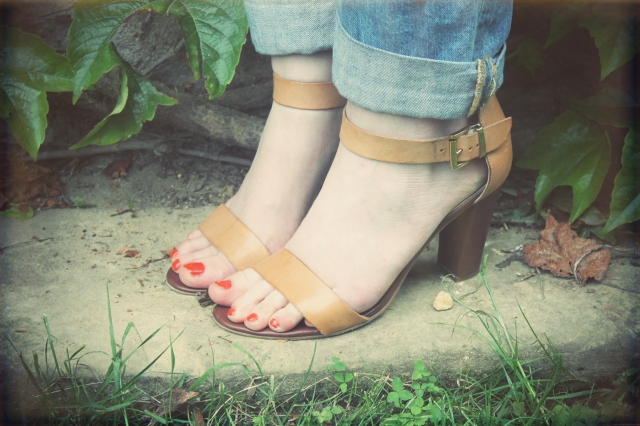 sandales taupage